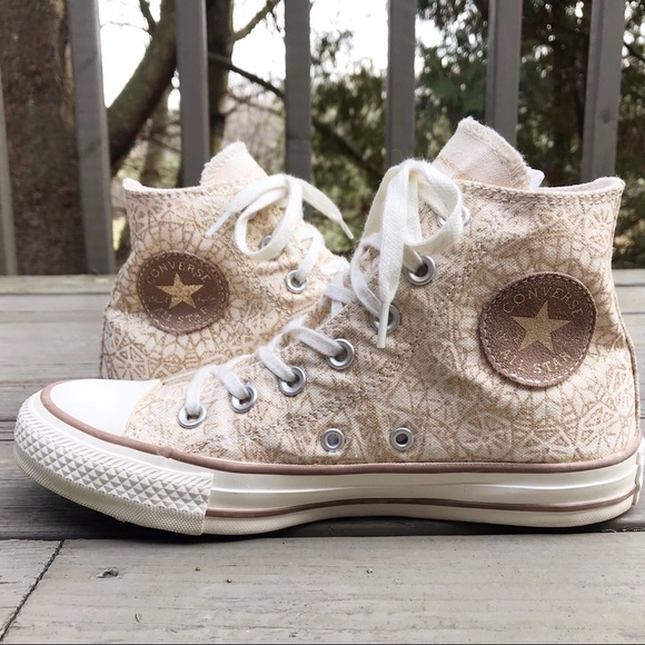 order online extremely unique baby Converse Gold Glitter High Tops